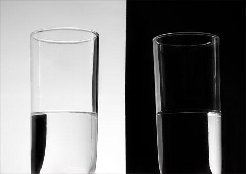 Quand le verre est à moitié vide